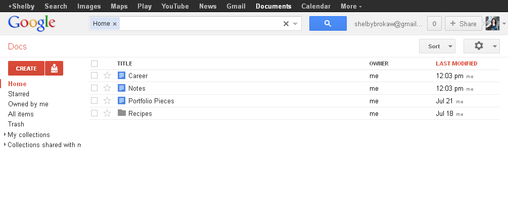 Compare google documents with the new google drive for Google docs my drive